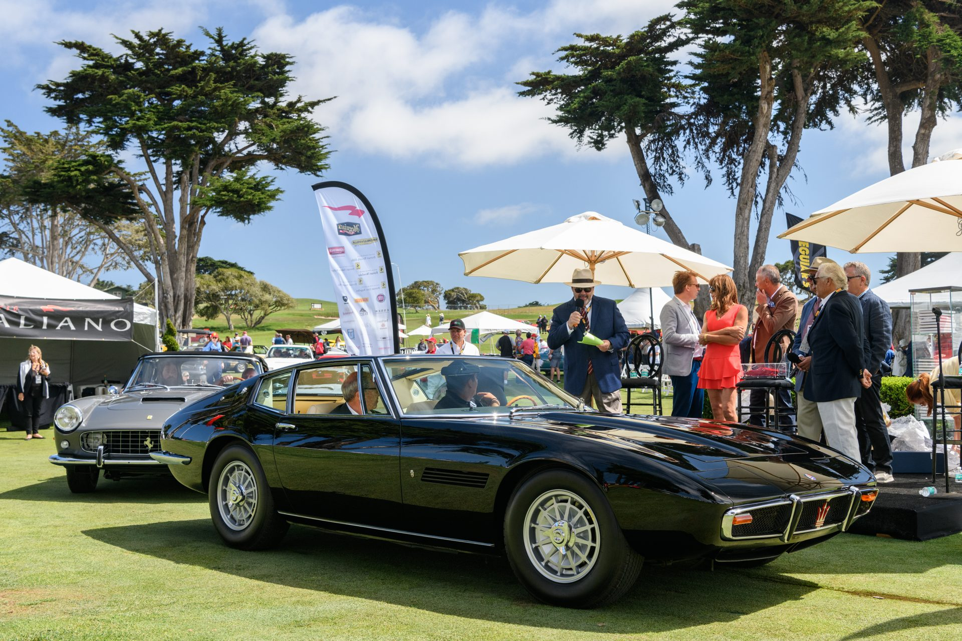 1st place Maserati: 1967 Maserati Ghibli Coupe owned by Ron Corradini from Newport Beach, CA