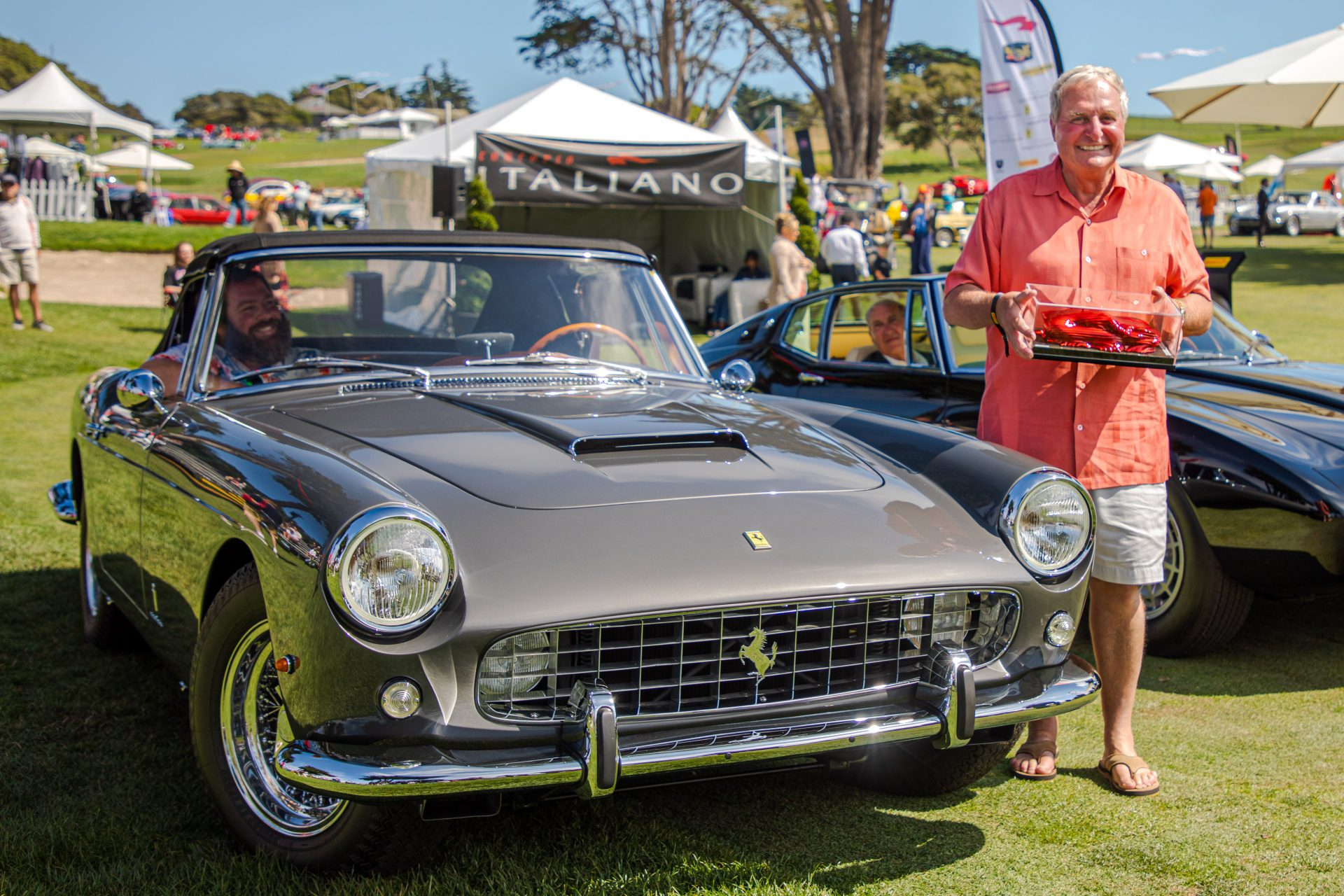 1st place Best in Show: 1960 Ferrari 250 GT Cabriolet owned by Ron Corradini from Newport Beach, CA
